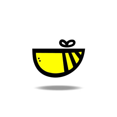 Abstract bee icon vector illustration.
