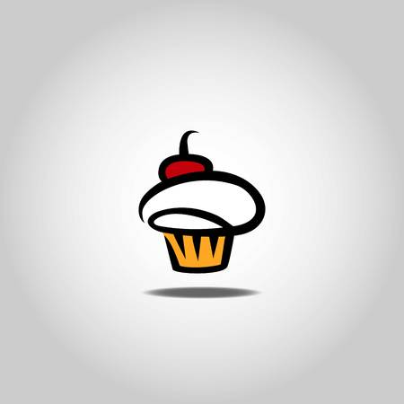 Cupcake icon vector illustration.