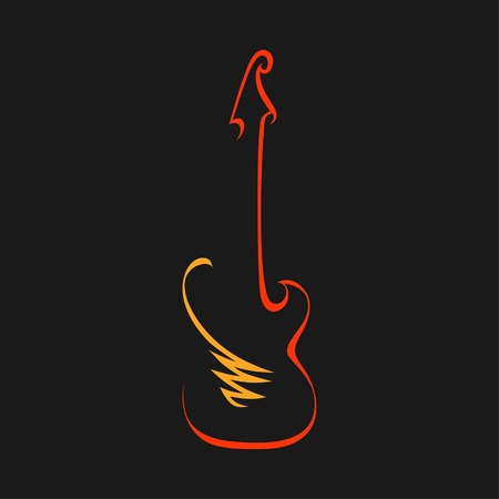 Abstract electric guitar symbol, icon. Used for logo 向量圖像