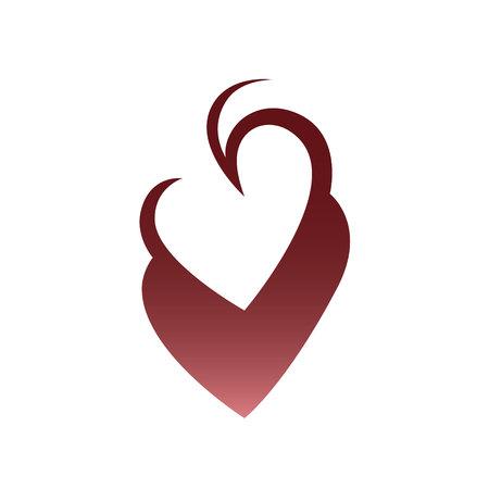 Abstract heart symbol.