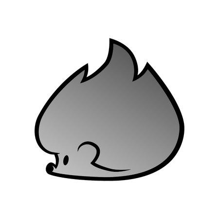 Cute cartoon hedgehog symbol.