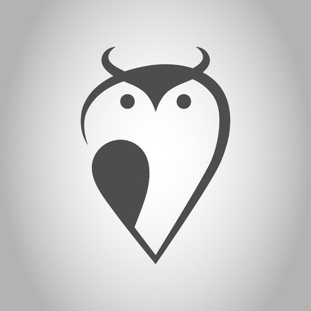 Abstract owl symbol, icon. Design element