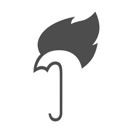 Abstract umbrella on fire symbol, icon. Hot weather concept 向量圖像