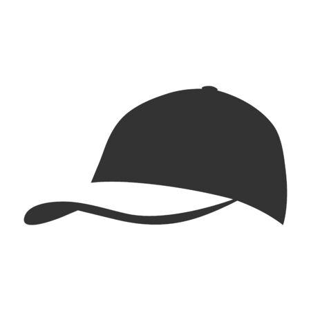 Cap symbol on white backdrop. Design element 向量圖像