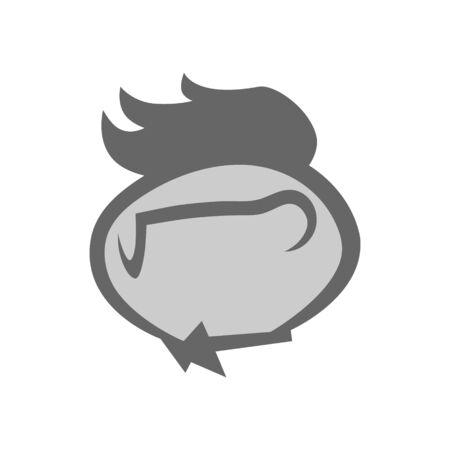 Geek person symbol on white backdrop