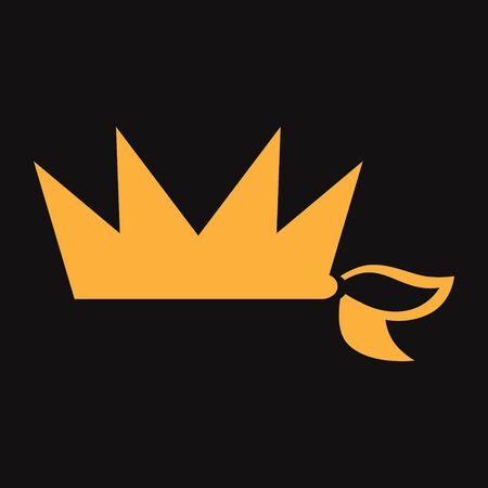 Knotted crown symbol on black backdrop