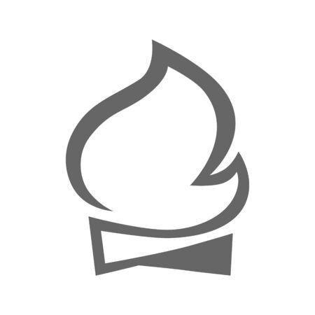 Bonfire symbol on white backdrop 向量圖像