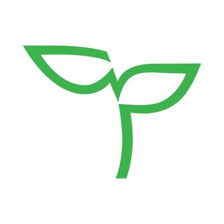 Seedling symbol on white backdrop
