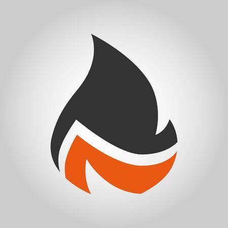 Fire gray and orange symbol, icon. Design element Banco de Imagens - 142713520