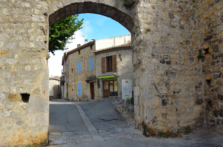 roussillon: The Water Gate Lagrasse Aude Languedoc - Roussillon France Stock Photo