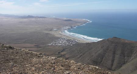 Volcanic Coastline of Northern Lanzarote at Playa de Famara