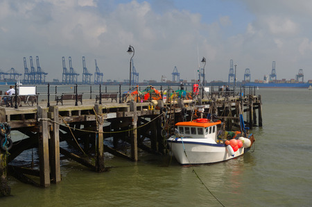 felixstowe: Harwich Quay with the Port of Felixstowe in the Background