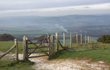 south downs: South Downs National Park near Firle East Sussex