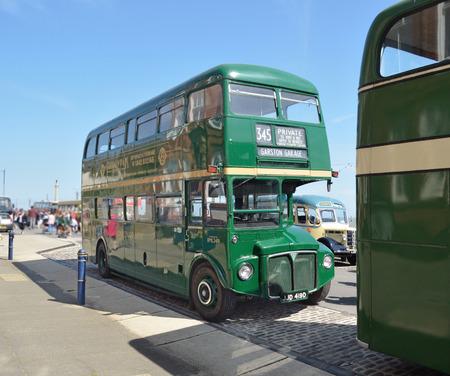 felixstowe: Vintage Bus taken at a vintage transport rally on Felixstowe seafront. Editorial