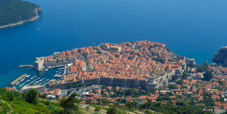 srd: Dubrovnik Old Town City Walls Panorama taken from Mount Srd.