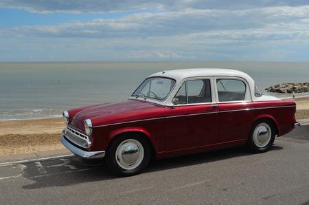 felixstowe: Classic Hillman Minx Motorcar in vintage car rally on Felixstowe seafront. Editorial