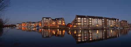 cambridgeshire: Eynesbury Marina Development of waterside houses and apartments.