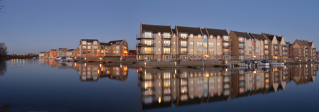 Eynesbury Marina Development of waterside houses and apartments.