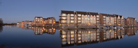 Eynesbury Marina Development of waterside houses and apartments.