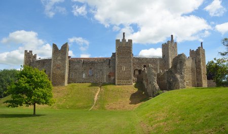 Framlingham Castle Suffolk England. Editorial