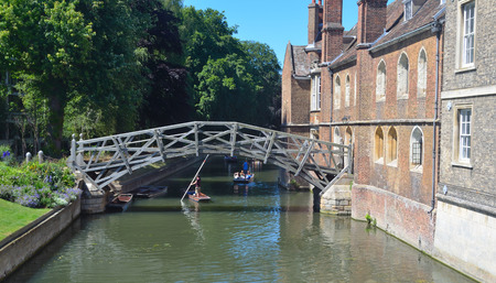 mathematical: The Mathematical Bridge and Queens College Cambridge.