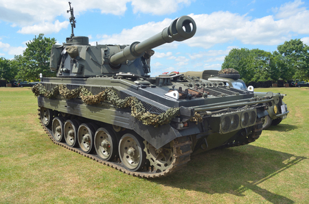 Scimitar light tank on show in St Neots.