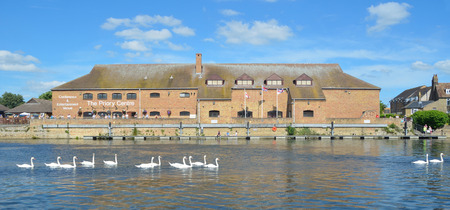 cambridgeshire: The Priory Centre on the river Ouse at St Neots.