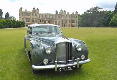 daimler: Classic Daimler motorcar on show at Audley End House