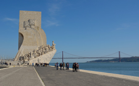 discoverer: Monument to the Discoveries Belem district Lisbon Portugal.