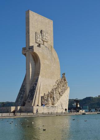 Monument du quartier Découvertes Belem Lisbonne Portugal.
