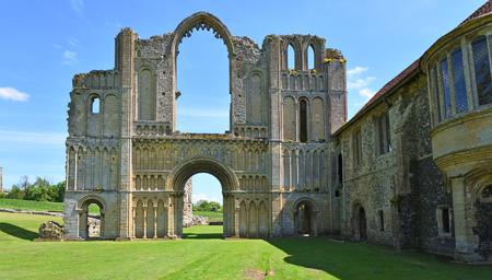CASTLE ACRE, NORFOLK, ENGLAND - MAY 09, 2018: The remains of Castle Acre Priory Norfolk Editorial