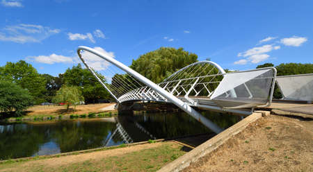 Bedford Bedfordshire River Ouse Butterfly footbridge over the River Ouse