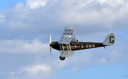 ICKWELL, BEDFORDSHIRE, ENGLAND - SEPTEMBER 06, 2020: Vintage De Havilland DH51
