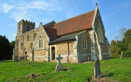 St Deny's Church, Little Barford, Bedfordshire in sunshine