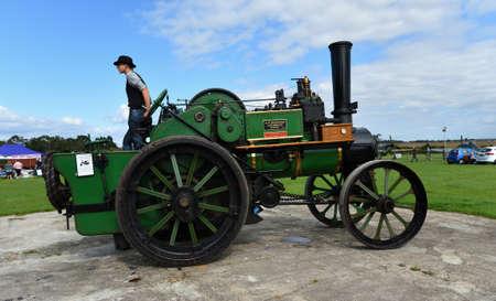 ICKWELL, BEDFORDSHIRE, ENGLAND - SEPTEMBER 06, 2020: Vintage 1914 Clayton and Shuttleworth  traction engine