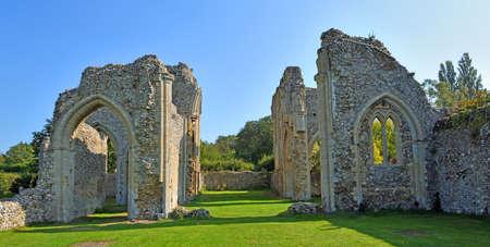 NORTH CREAKE, NORFOLK, ENGLAND - SEPTEMBER 21, 2020: The ruins of Creake Abbey North Norfolk England. Editorial