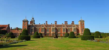 AYLSHAM, NORFOLK, ENGLAND - SEPTEMBER  21, 2020:  Blickling Hall Norfolk on a sunny day house and garden.