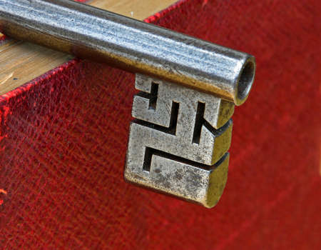 Highly detailed Key Ward on  Antique Pipe Key