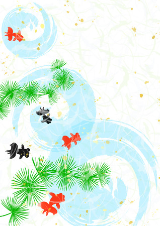 Background of goldfish style of Japanese paper  photo