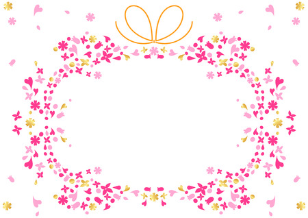 Frame of small flowers  Vector
