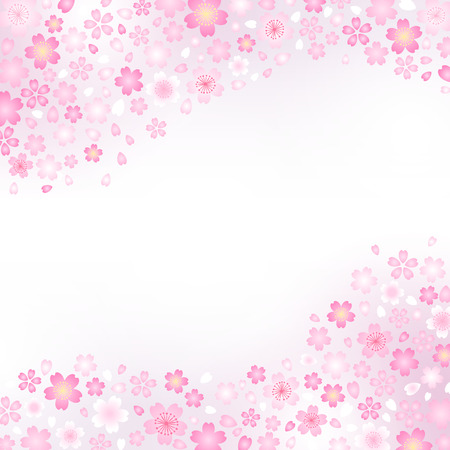 Japanese pattern of cherry blossom and spring haze Vector