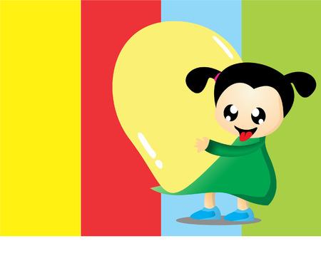 happy kids: Happy kids with balloon