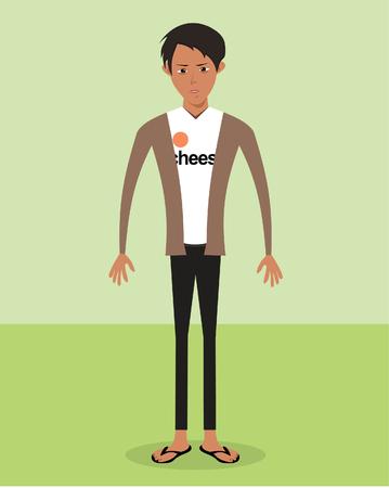hombre flaco: Hombre delgado Vectores