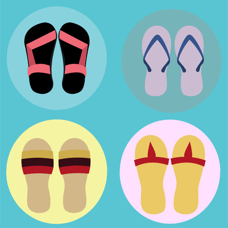 sandalias: Conjunto de las sandalias