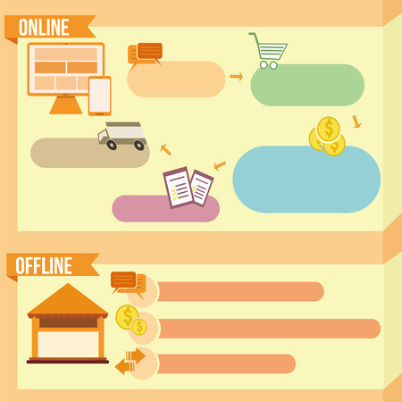 offline: Banner template with info graphic Illustration