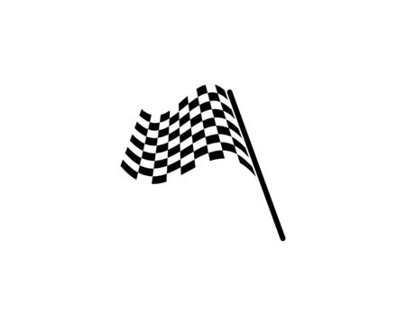Race flag icon, simple design race flag logo template - Vecto