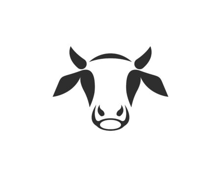 Vector of cow design on white background. Vector illustration. Farm Animals. - Vector Çizim