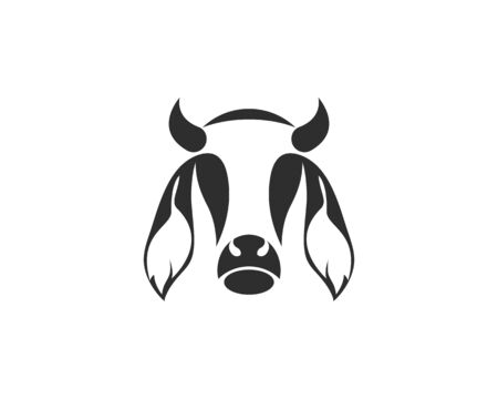 Vector of cow design on white background. Vector illustration. Farm Animals. - Vector Stockfoto - 130112421