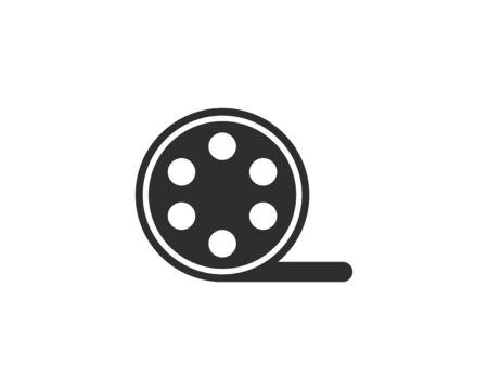 Film roll logo - vector black cinema and movie design element or icon - Vector