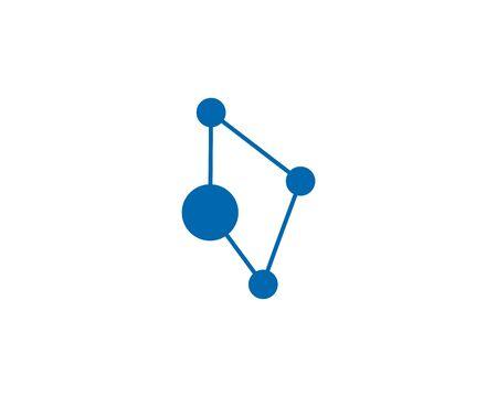 molecule logo vector icon illustration design